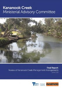 Kananook Creek Ministerial Advisory Committee Review of Management Arrangements, .pdf approx 4.4 Mb opens new tab