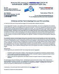 KCA News, membership, Seasons Greetings